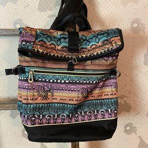 Sakroots Roll top New Adventure Sherbet backpack
